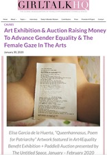 Art Exhibition & Auction Raising Money To Advance Gender Equality & The Female Gaze In The Arts