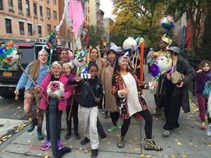 Good Monster Puppet Workshop, 2015, puppet workshop, cipher jam and parade in collaboration with Paperboy Prince of the Suburbs, Sixth Street Community Center, New York, NY