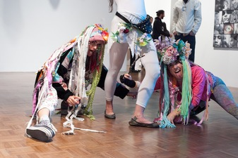The Clitney Perennial, feminist performance protest at the Whitney Museum during the Biennial, organized by Go! Push Pops and several other feminist collectives of NYC, photo: Marie Tomanova, 2014