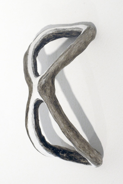 Selected Small Sculptures: The Queries Bend (gray white)