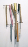 Selected Works 2011-2012 wood, wire, paper, gesso, acrylic paint