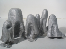 Elisa Lendvay Studio Mounds/ Busts 2004-2006 cast aluminum