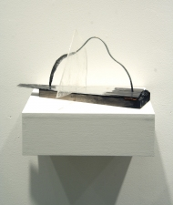 Elisa Lendvay Studio Force of Things wood, aluminum, plexiglass, pavement, papier mache, acrylic paint