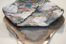 Elisa Lendvay Studio Reiterations (memory) and Thought forms oil on canvas, papier mache, aluminum, cardboard