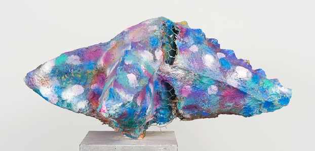 Elisa Soliven / Paper mache, wax, acrylic paint, pigment, tempera, steel, aluminum metal foil, chicken wire, plaster