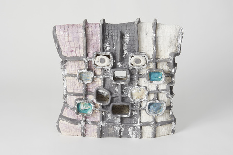 Elisa Soliven  Work Glazed ceramic and aluminum