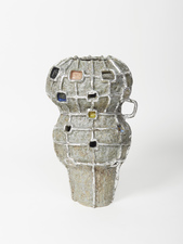 Elisa Soliven  Work Glazed ceramic with aluminum leaf