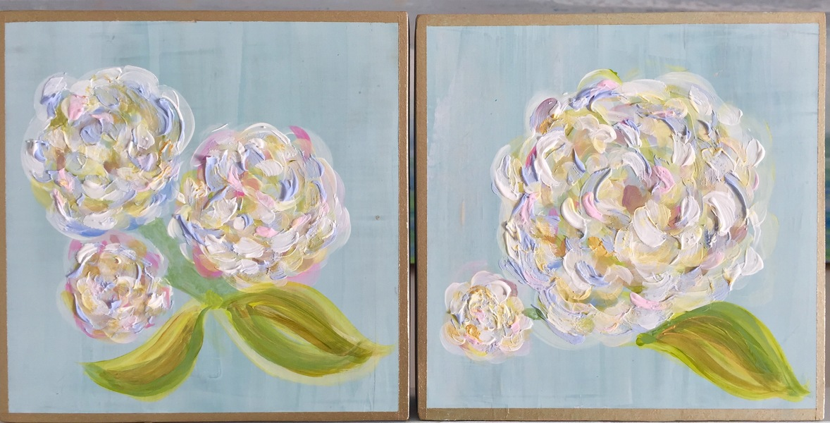 PREVIOUS WORKS Mini Hydrangeas, Pair