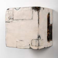 ELIZABETH HARRIS WALL SCULPTURES Encaustic and graphite on canvas and wood