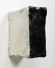 ELIZABETH HARRIS WALL SCULPTURES Encaustic, graphite, oil and plaster on wood