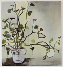 Elizabeth Riggle Geraniums Oil on Canvas