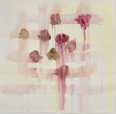 Elizabeth Riggle Roses gouache on paper