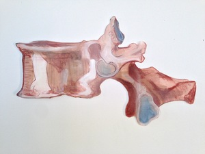 Elizabeth Riggle Drawings Conte and Gouache on Paper
