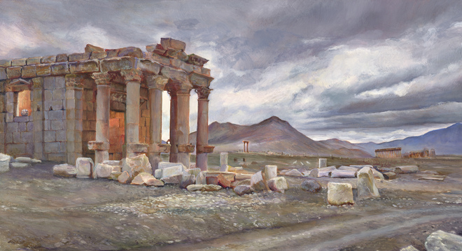 Elizabeth Pols Palmyra oil on panel