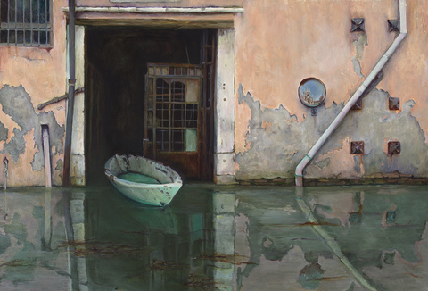 Elizabeth Pols Cannaregio Oil on panel