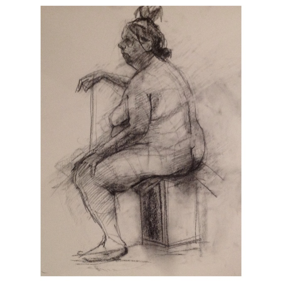 Observational Drawings Seated Model