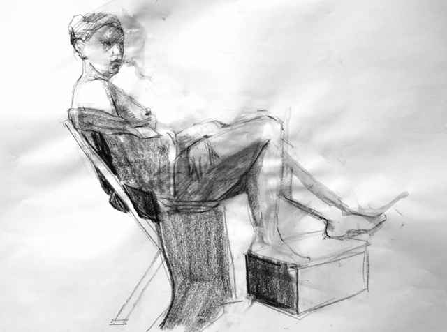 Observational Drawings seated figure