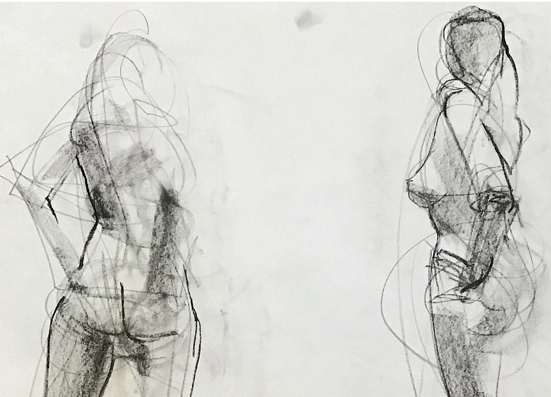 Observational Drawings 10 minute figure study -- 2 figures