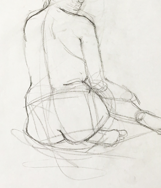Observational Drawings 10 minute figure drawing