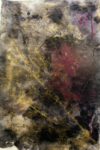Elizabeth Criger DARK MATTER Mixed Media on Paper