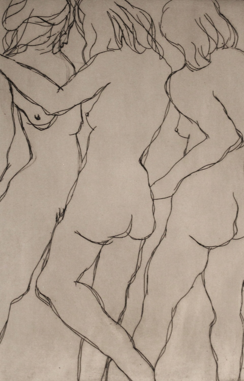 Figures Etching / 9 x 6