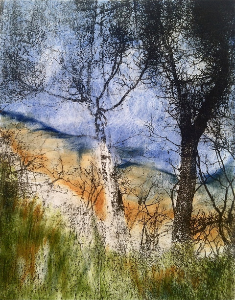 Landscapes Paper Lithograph & Monotype / 14 x 11