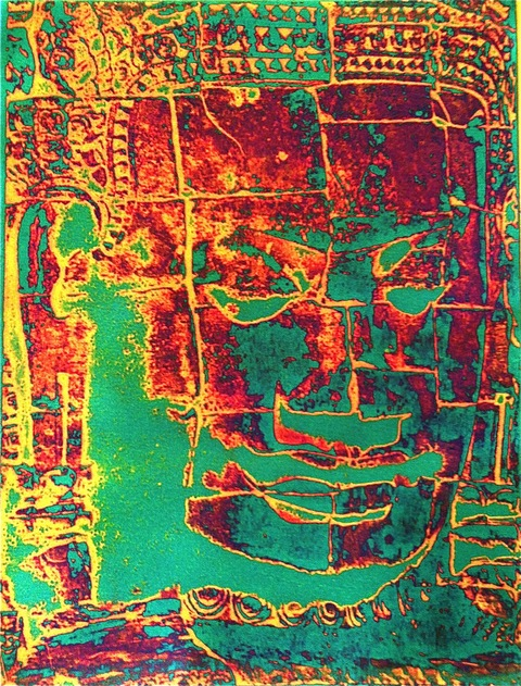 Buddha Series Viscosity Etching / 8 x 6