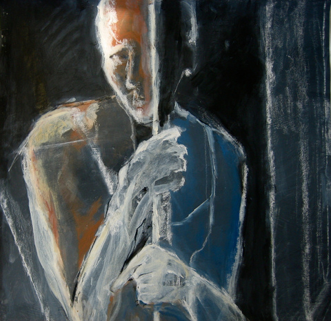 Figures & Portraits Acrylic and Chalk / 31 x  30