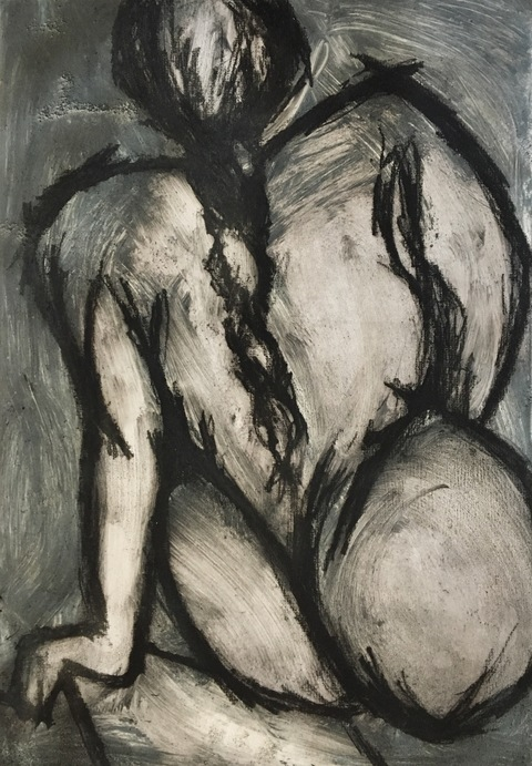 Figures Etching & Monotype  / 18 x 15