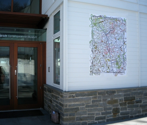 Elizabeth Duffy Map Projects Banner of Incised Drawing of Maps of Original Inhabitants of Ridgefield, CT