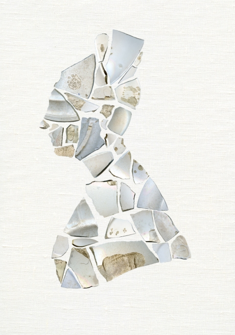 Elizabeth Duffy Shard Portraits Archival Inkjet Print on Hahnemühle Paper