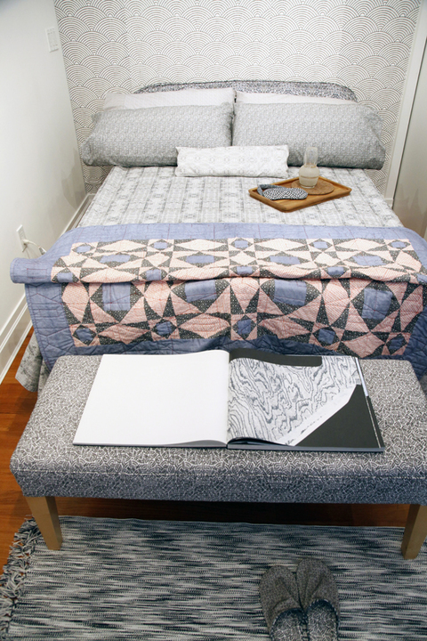 Elizabeth Duffy Apartment 2B, at DM Contemporary, NYC mixed media using security envelope patterns