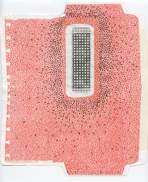 Elizabeth Duffy Security Envelope Quilts and Drawings pencil and security envelopes
