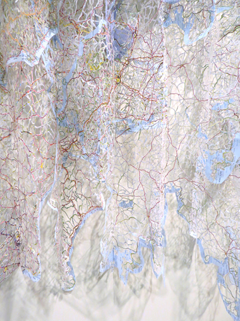 Elizabeth Duffy Map Projects hand cut maps