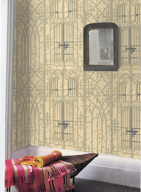 Elizabeth Duffy Maximum Security Wallpapers, Textiles and Installations Screen printed paper