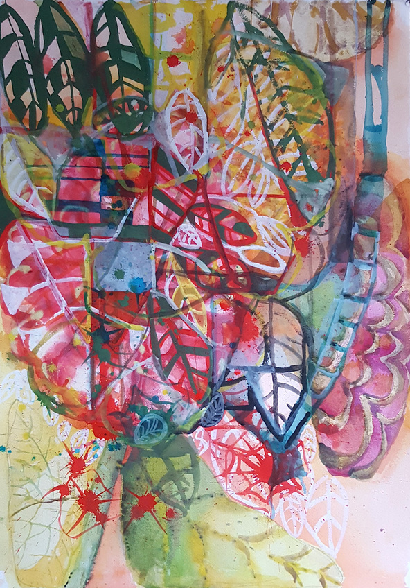 Elizabeth Terhune Recent Large Watercolors watercolor and gouache on paper