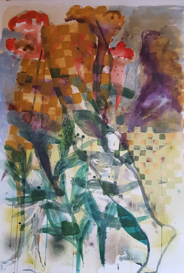 Elizabeth Terhune Recent Large Watercolors watercolor and gouache
