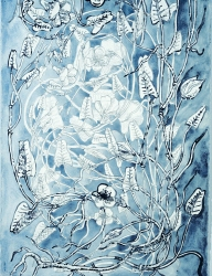 Ellen Kahn Botanical Works on Paper watercolor on paper