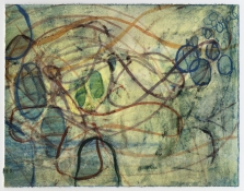 Ellen Kahn String Works on Paper watercolor on paper