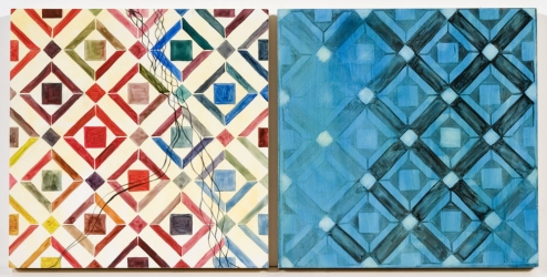 Ellen Kahn Tile Paintings oil on panel