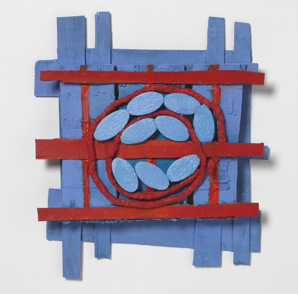 Wood Constructions Red and Blue