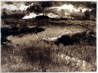 Monoprints Evening Field