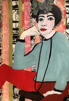 Ellen S. Gordon Figurative Collages Graphite, The New York Times and other material