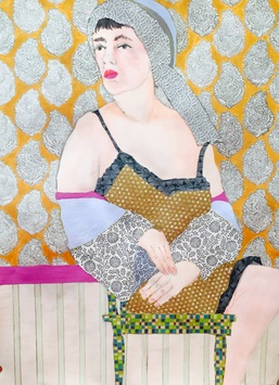 "Ellen S. Gordon Figurative Collages 30""  by 40"""