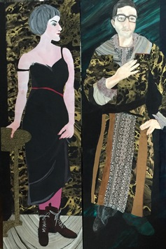 Ellen S. Gordon Figurative Collages Mixed media on canvas