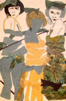 Ellen S. Gordon Figurative Collages collage and ink