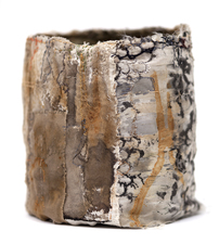 Ellen Solari New Work 2017-2018 fabric collage vessel