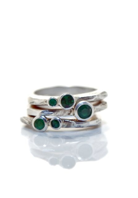 Elyse Garling Jewelry Rings Sterling, Colombian Emerald