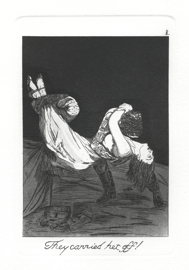The Caprichos Plate 8: They carried her off!