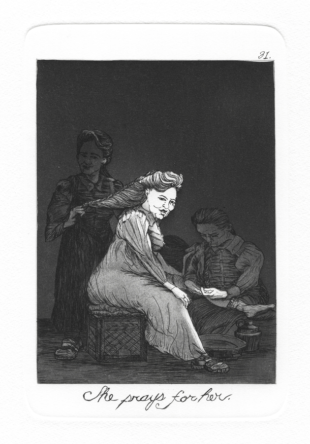 The Caprichos Plate 31: She prays for her.